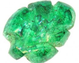 CARVED EMERALD 4.21 CTS  90211
