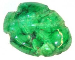 CARVED EMERALD 2.90 CTS  90224