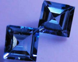 FACETED BLUE TOPAZ  PAIR 8.16 CTS 90096