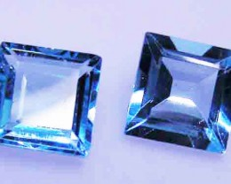 FACETED BLUE TOPAZ  PAIR  9.25 CTS 90097