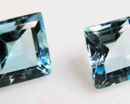 FACETED BLUE TOPAZ  PAIR 8.72 CTS 90098