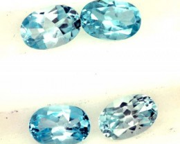 BLUE TOPAZ NATURAL FACETED ( 4 PCS)2.10 CTS  PG-1426