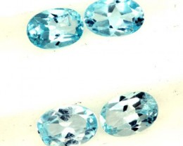 BLUE TOPAZ NATURAL FACETED ( 4 PCS) 2.0CTS  PG-1424