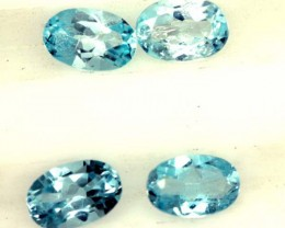 BLUE TOPAZ NATURAL FACETED ( 4 PCS) 2.05CTS  PG-1422