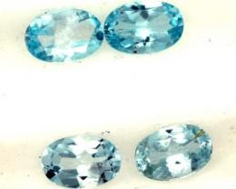 BLUE TOPAZ NATURAL FACETED ( 4 PCS) 2 CTS  PG-1421