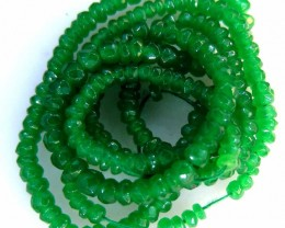 FACETED GREEN JADE GRADED BEADS STRING 45.00 CTS  90639
