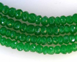 FACETED GREEN JADE GRADED BEADS STRING 47.00 CTS  90640