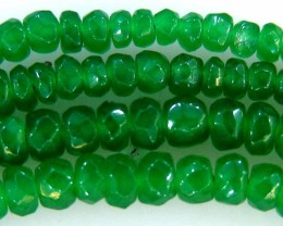 FACETED GREEN JADE GRADED BEADS STRING 46.00 CTS  90641
