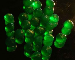 NATURAL EMERALD FACETED BEADS PARCEL 60.76 CTS 90030