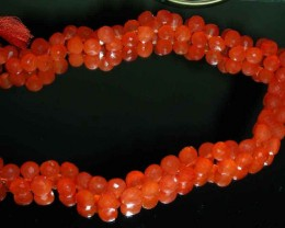 NATURAL CARNELIAN BEADS STRING   302.00 CTS 90070