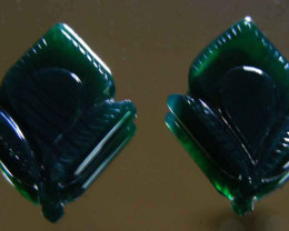 NATURAL GREEN ONYX CARVINGS 23.26 CTS 90075