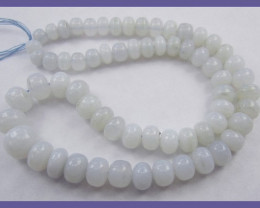 """SOFTLY COLORED AAA 5.50-10.50MM CHALCEDONY ROUNDEL BEADS&a"
