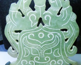 JADE CARVING  372.00 CTS   90615