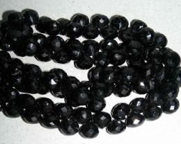 NATURAL JET BLACK SPINELS STRING 350.00  CTS 90049
