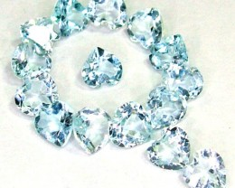 BLUE TOPAZ NATURAL FACETED (15 PCS) 3.30CTS   PG-1506