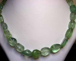 FLUORITE BEADS STRING 382.00 CTS  90654