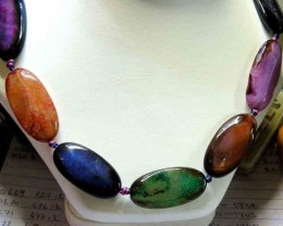 AGATE BEADS NECKLACE  490.00  CTS  90672