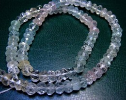 AQUAMARINE BEADS STRING 99.00  CTS  90663