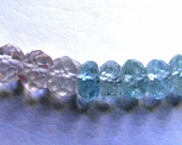 AQUAMARINE BEADS STRING 99.00  CTS  90664