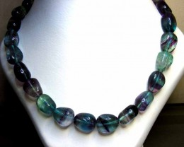 FLUORITE BEADS STRING 538.00  CTS  90658