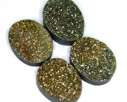 NATURAL DRUSY STONE (4PC SET) 33 CTS PG-897