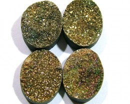 NATURAL DRUSY STONE (4PC SET) 28 CTS PG-898