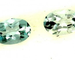BLUE TOPAZ NATURAL FACETED (2 PCS) 0.70 CTS  PG-1312