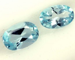 BLUE TOPAZ NATURAL FACETED (2 PCS) 1.10 CTS  PG-1383