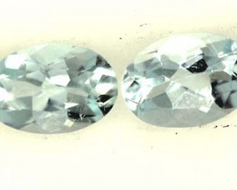 BLUE TOPAZ NATURAL FACETED (2 PCS) 0.80 CTS  PG-1332