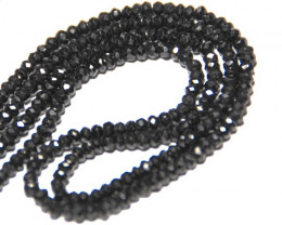 "3mm AA BLACK SPINEL faceted beads 13.5"" line spb004"