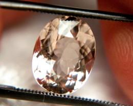 3.67 Carat VVS/VS Morganite - Superb Hand Held Beauty