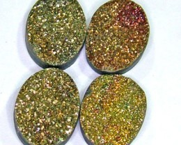 NATURAL DRUSY STONE (4PC SET) 30 CTS PG-744