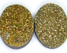 NATURAL DRUSY STONE (2PC SET) 12.70 CTS PG-740