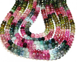 SALE 4.5 - 5mm AAA WATERMELON TOURMALINE faceted beads tou018