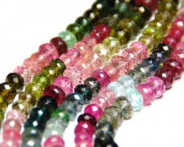 "SALE 5 - 6mm AAA WATERMELON TOURMALINE beads15"" line tou018"