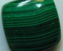 BEAUTIFUL BANDED PATTERN MALACHITE CABOCHON STONE 34.40 CTS