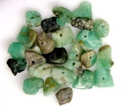 EMERALD BEAD UNTREATED DRILLED 26 PCS 40 CTS  NP-1399