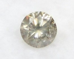 CERTIFIED 0.44ct 4.9mm Untreated Natural Light Brown DIAMOND