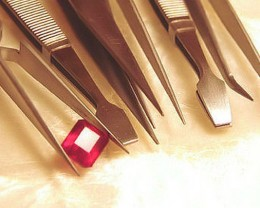 6 Piece Set of Stainless Steel Jeweler's Tweezers - Fun!