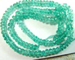 40 CTS APATITE BEADS DRILLED NEON BLUE UNTREATED SG-2244