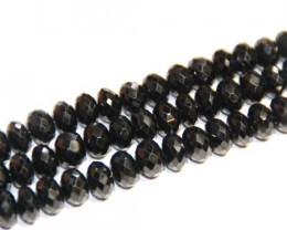 "AAA Grade Black Spinel Faceted beads 10"" 7mm"