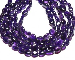 "10mm 13.5"" line Amethyst smooth beads"