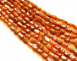 Beautiful Russet color HESSONITE GARNET beads 14 inch line