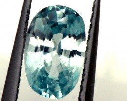 BLUE ZIRCON FACETED STONE 1 CTS  PG-1254