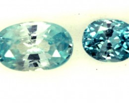 BLUE ZIRCON FACETED STONE 1.25 CTS PG-1260