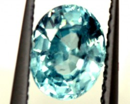 BLUE ZIRCON FACETED STONE 1.05 CTS  PG-1253