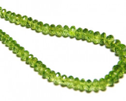 """SALE from $225 4mm - 7mm AA PERIDOT faceted beads 8"""" line"""