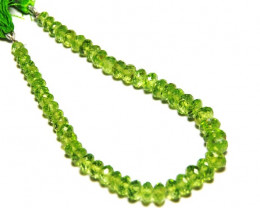 "SALE from $225 4mm - 7mm AA PERIDOT faceted beads 8"" line"