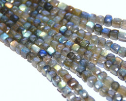 box checker cut labradorite beads 6mm 10in