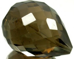 SMOKEY QUARTZ 45 CARAT WEIGHT BRIOLETTE GEMSTONE BEAD NR